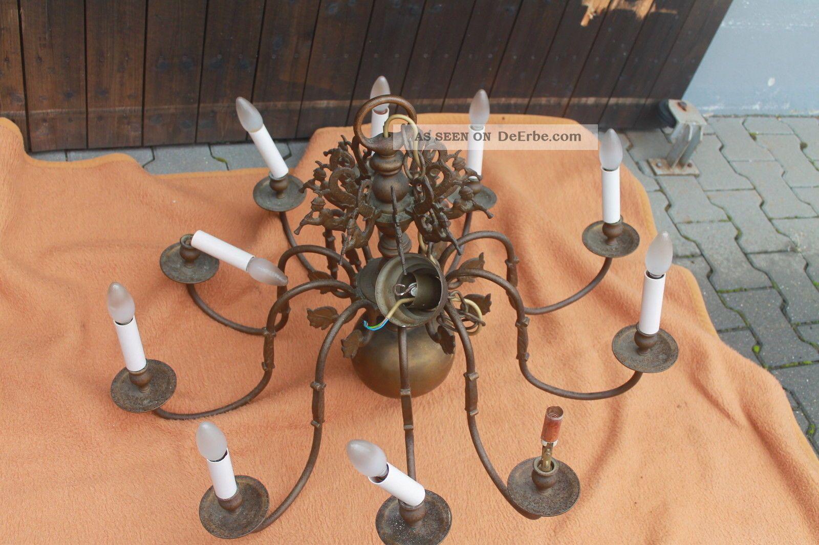 bronze kronleuchter lampe schlosslster lster metall einzelstck ca 1880 - Bronze Kronleuchter