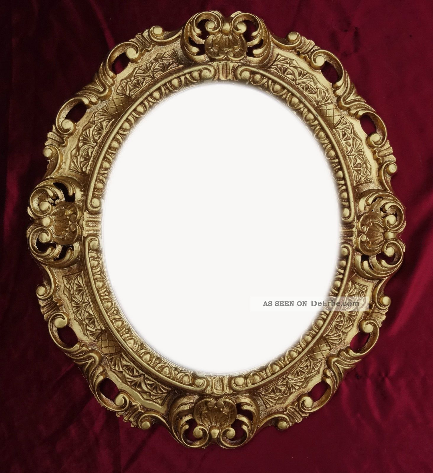wandspiegel spiegel in gold oval 45 x 38 cm barock antik repro vintage 345 3. Black Bedroom Furniture Sets. Home Design Ideas