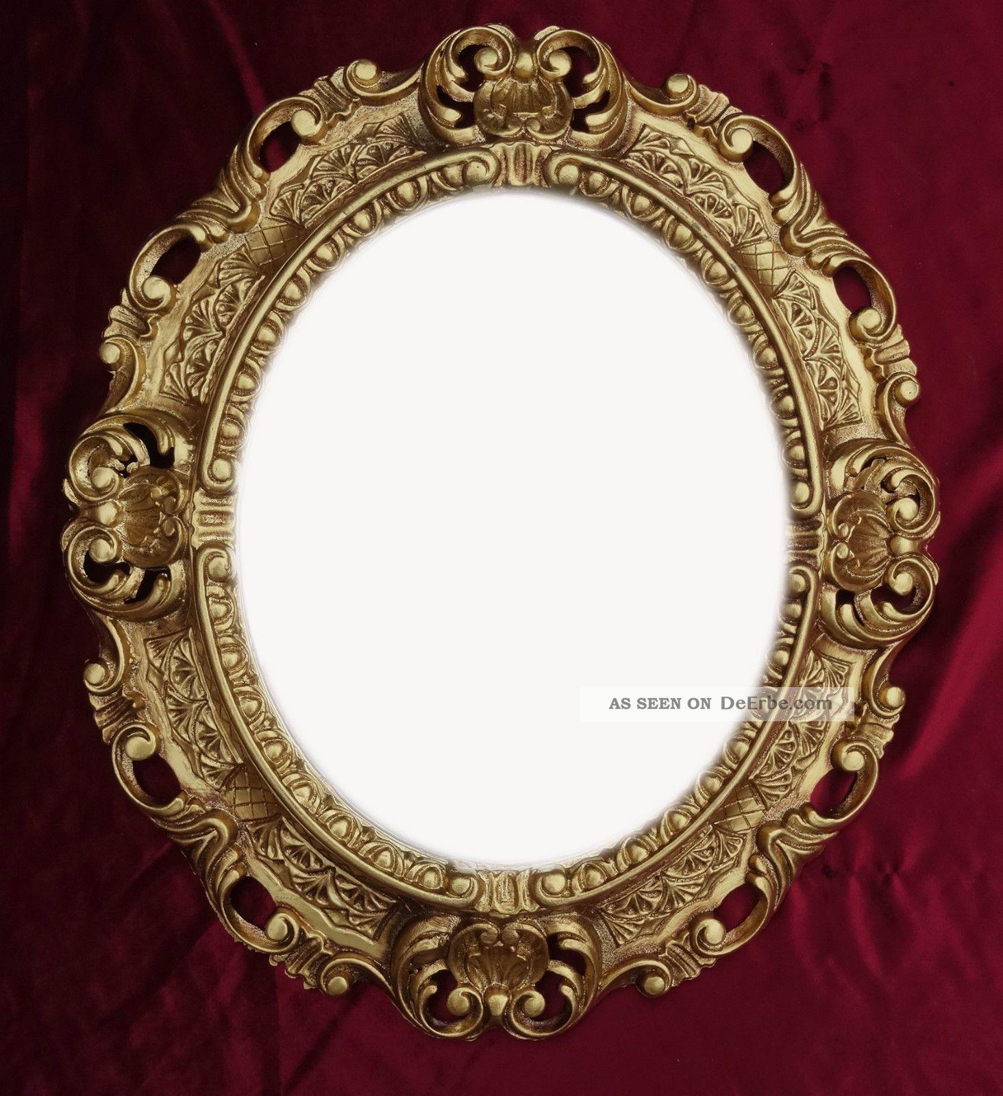 Wandspiegel spiegel in gold oval 45 x 38 cm barock antik repro vintage 345 3 - Spiegeldecoratie ...