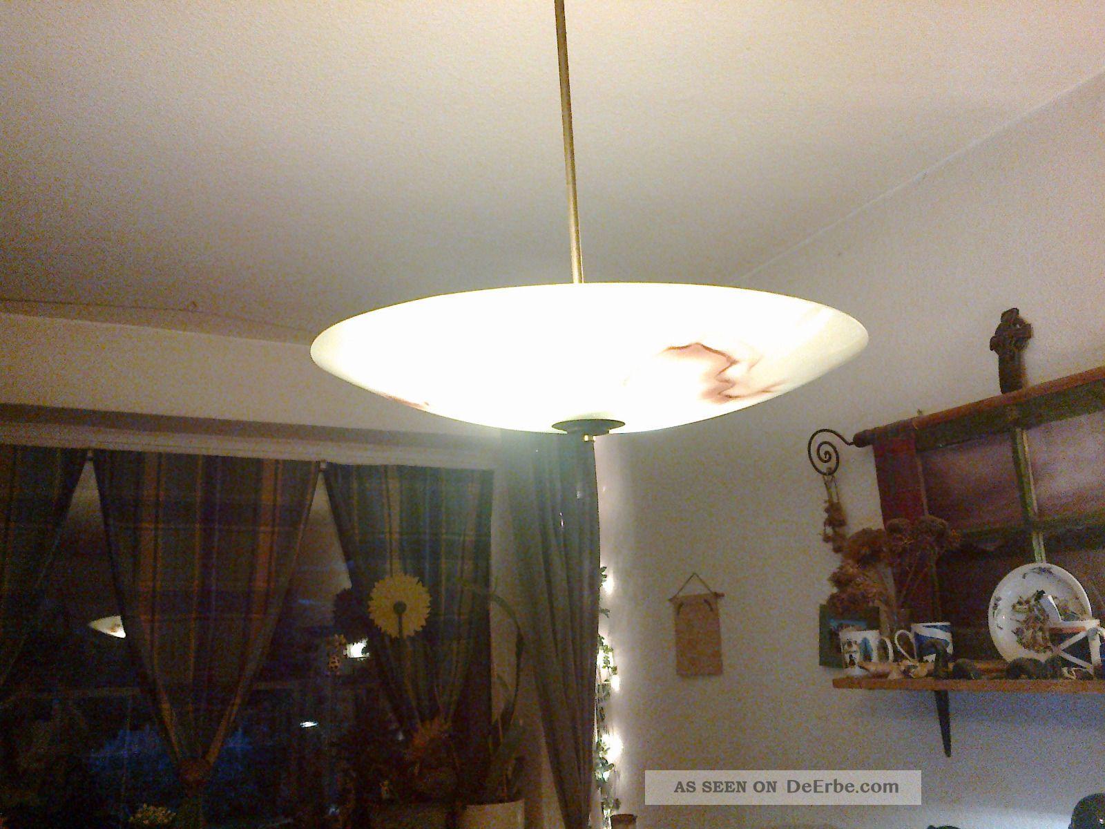 Deckenlampe Plafoniere : Deckenlampe plafoniere ufolampe opalglas er jahre
