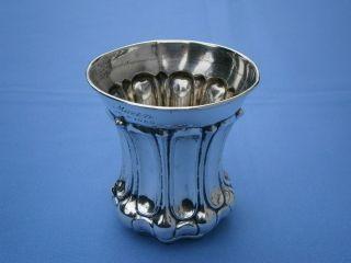 - - - - - - - - - - - - - - - - Antiker 12 Lötiger Biedermeier Silberbecher - - - - - - - - - - - - - - - Bild
