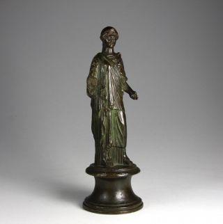 Grand Tour Bronze 18.  Jahrhundert Athene Italien Griechenland Figur Skulptur Bild