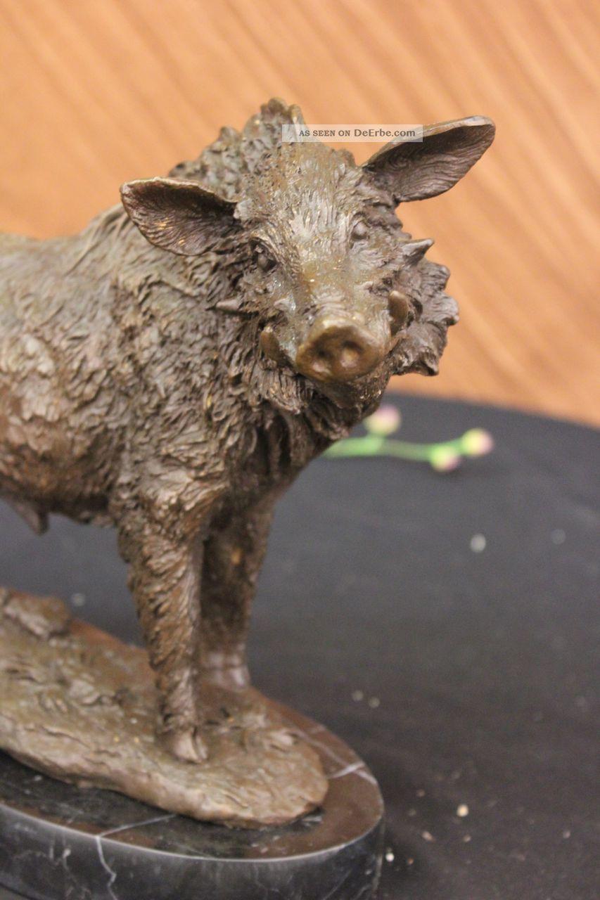 bronzeskulptur gro signiert barye wildschwein art deco. Black Bedroom Furniture Sets. Home Design Ideas