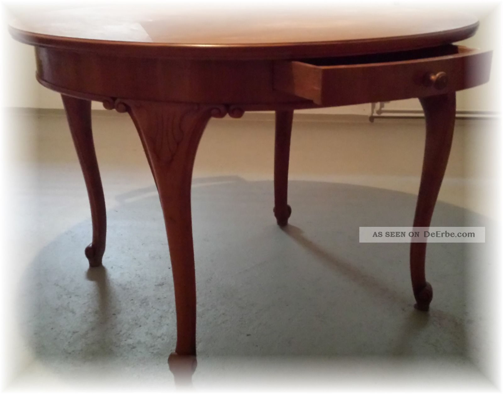 antik runder massiv eiche salontisch jugendstil tisch um 1900 belassen. Black Bedroom Furniture Sets. Home Design Ideas