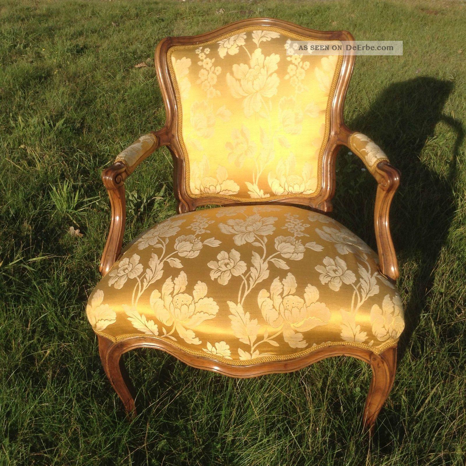 Barock sessel fauteuil louis xv kunst stuhl barockm bel for Sessel antik