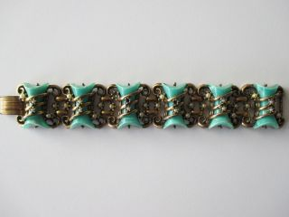Vintage Selro Thermoset Armband Grün Bracelet Green Bild