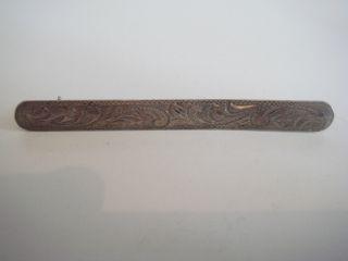 Antike Jugendstil Damen Brosche Brooch Echt Silber 835 Massiv Handarbeit Unikat Bild