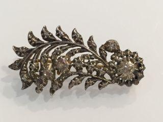Jugendstill Antik Silber 835 Altschliff Diamanten Ca.  0,  96 Ct.  Jrs Bild