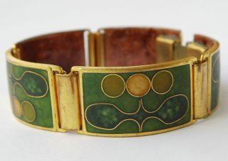 Vintage Armband Emaille Enamel Schibensky Scholz & Lammel Perli Bracelet Germany Bild