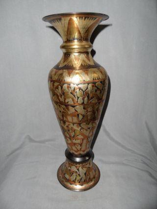 Art Deko Kupfervase Ägypten Handarbeit Bild