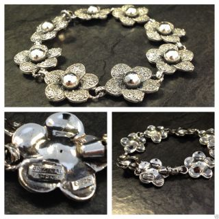 Art Deco Theodor Fahrner Armband Blüten 925 Er Silber Tf Silberarmband Bild