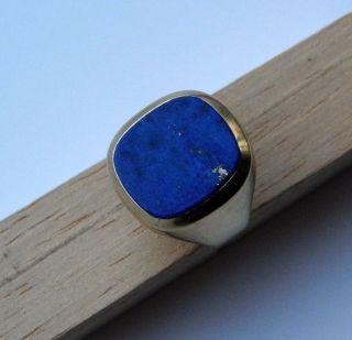 Gold - Ring 585 Mit Lapis Lazuli Stein - Herren - Gestempelt - Gelbgold - Ca 7 Gr. Bild