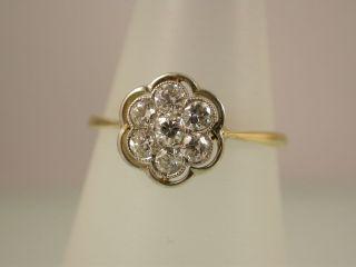 Zarter Antiker Ring Mit Brillanten Gold 750 Bild