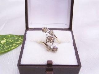 Diamant - /altschliff - Brillantring: Handarbeit Um 1910: 585er Gold: Gr.  : 53/16,  8 Bild