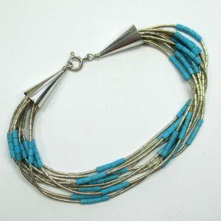 852 - Armband In Indianerschmuck Art - Silber - Türkise Steine - - - Video - 1367 - Bild