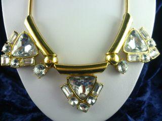 Collier Mit Steinkristall - Hartvergoldet Vintage Varietekünstler Bild