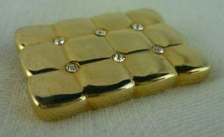 Goldene Kissen Brosche Strass - Aconola - Antik Bild