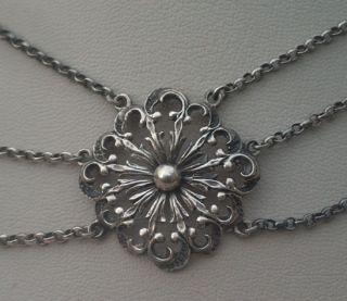 835 Silber 3reihig Trachten Collier Bild