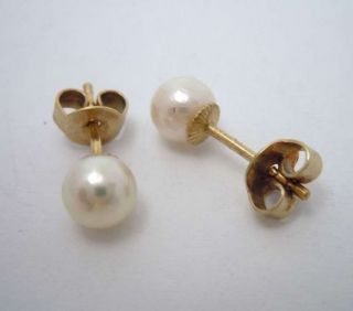 585 Gold Ohrstecker Mit Perlen Bild