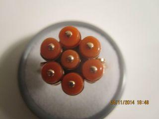 Korallenringbestequalitätlachsfarbe585,  Er Rosegoldaltepunzefrankreichrussland Bild