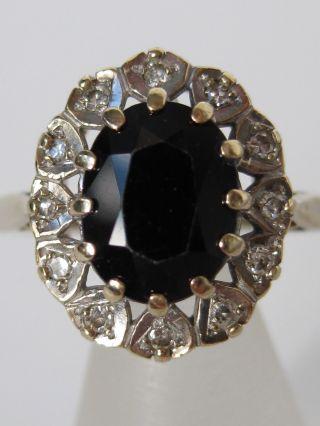 Antiker 333 Gelbgold Weissgold Ring Mit Diamant,  Saphir Diamantring Goldring Bild