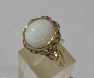 Opal - Ring In Gelbgold Ansehen Bild