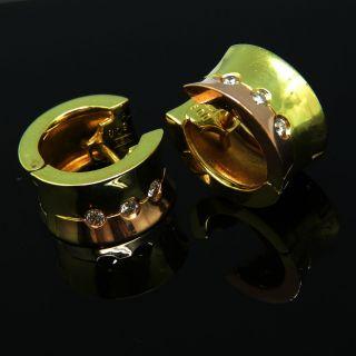 Sehr Schöne 585er Gold Ohrringe Mit 6 Brillanten - S2729 Bild