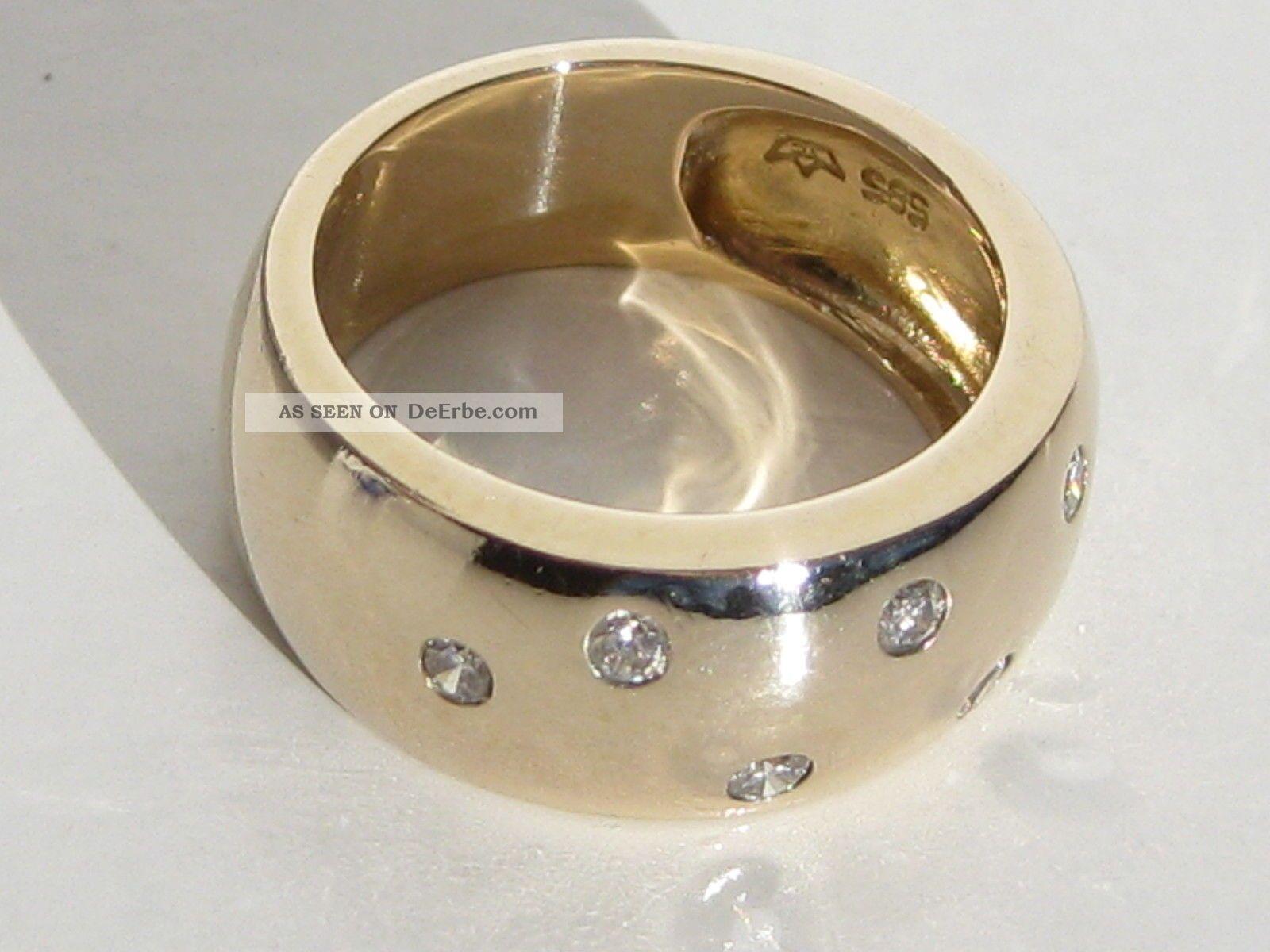 massiver 585 diamant gelbgold ring goldring ehering verlobungsring gold ring. Black Bedroom Furniture Sets. Home Design Ideas