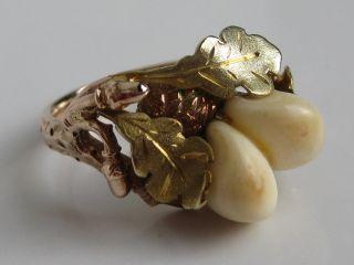 Grosser 333 Rotgold Grandl Ring Hirschgrandln Gold Grandlring Trachtenschmuck Bild