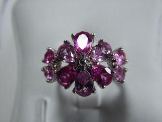 Art_deco 925er Silberring 10x Rosa Turmaline Massiv: 4,  25 Gr.  Design Bild