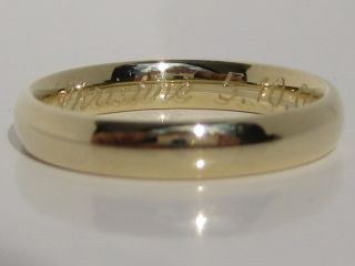 585 Gelbgold Trauring Goldring Graviert 14 Karat Gold Ehering Verlobungsring Bild