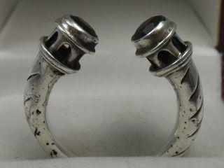 Warschau Polen : Klasse Handgearbeiteter Designer Ring Aus 925 Silber Mit Granat Bild