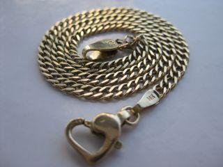 585 Gelbgold Collier,  Taufkette,  Babykette,  14 Kt Gold,  Kette Goldkette Kinder Bild