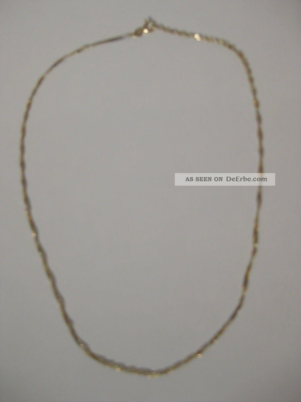 feine gelbgold weissgold kette gedreht 333 gold collier. Black Bedroom Furniture Sets. Home Design Ideas