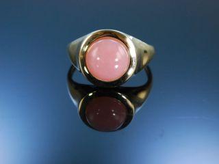 Ring Gold 375 Pink Opal Cabochon Pinkopal Opalring Rosa England Um 2005 Bild