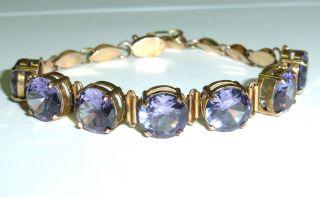 Antikschmuck Gehobene Kategorie Armband 750/18 Karat Gold Saphir Farbwechselnd Bild