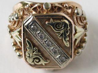 750 Gold Ring Massiv,  Handgearbeitet,  Goldring Unikat Handarbeit Dricolor Bild