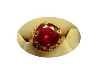 Prachtvoller Antiker Ring 18 K 750 Gold Rubin Gr.  51 Tolles Design Unikat ? Bild