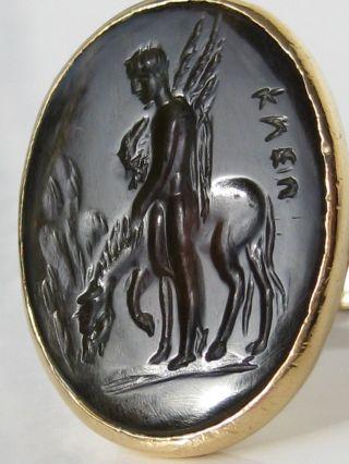 Unikat 750 Goldring Gelbgoldring Goldschmiedearbeit Handarbeit Gold Bild