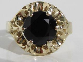 Toller Antikring 333 Gelbgold Ring Großer Stein Goldring Handarbeit Unikat Gold Bild