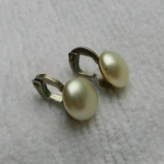 Ohrringe Clips Perlenclips - Silber Gestempelt 835 Bild