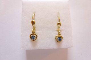 Exclusive Seltene Ohrringe Gold 585 Mit Herzgehängen Und Spinell Bild