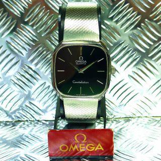 Vintage Omega Constellation Stahl Jahr 1977 Saphirglas Armbanduhr Herrenuhr Bild