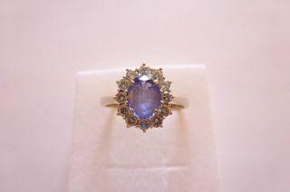 Sehr Exclusiver Prachtvoller Antiker Ring W - Gold 585 Mit Tanzanit Und Brillanten Bild