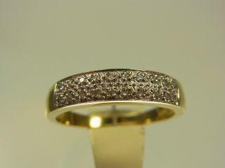 Schöner Diamant Ring 333 Gelbgold Weißgold Mit 20 Diamanten Ca 0,  20 Ct Bild