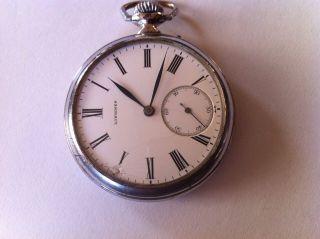 Sehr Alte Taschen - Uhr Herren Der Marke Longines Bild