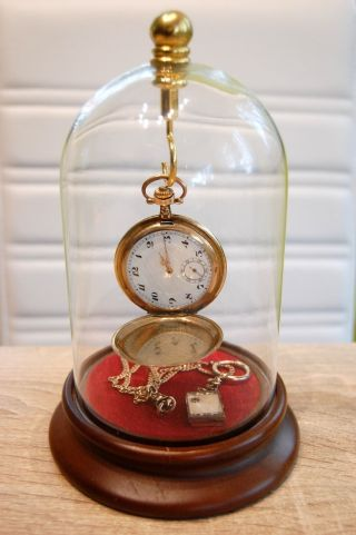 Massive Savonette - Taschenuhr Gold Biedermeier Inkl Kette,  Medaillon,  Uhrenglocke Bild