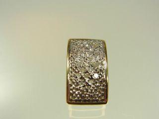Schöner Diamant Anhänger 333 Gelbgold Mit 20 Diamanten Ca 0,  15 Carat Bild