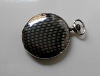 Antike Junghans Taschenuhr 0,  800er Massiv Silberuhrtulasilber Bild