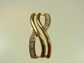Schöner Diamant Anhänger 333 Gelbgold Mit 14 Diamanten Ca 0,  09 Carat Bild